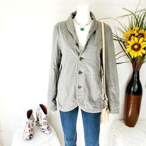 Rag & Bone jersey knit button front sweater coat